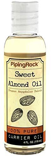 Piping Rock Sweet Almond Oil 4 fl oz (118 mL) Bottle Cold Pressed Frunus Amygdalus Dulcis