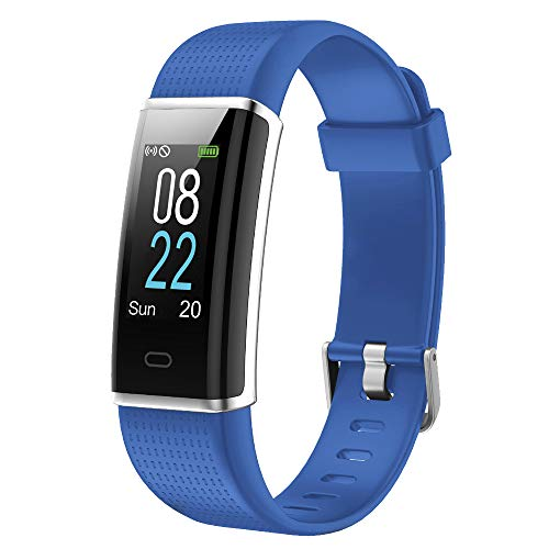 YAMAY Fitness Tracker with Heart Rate Monitor, Fitness Watch Activity Tracker Smart Watch with Sleep Monitor 14 Sports Mode,Pedometer Watch for Kids Men Women (Color Screen,IP68 Waterproof) (Blue) (Best Facebook Status To Get The Most Likes)