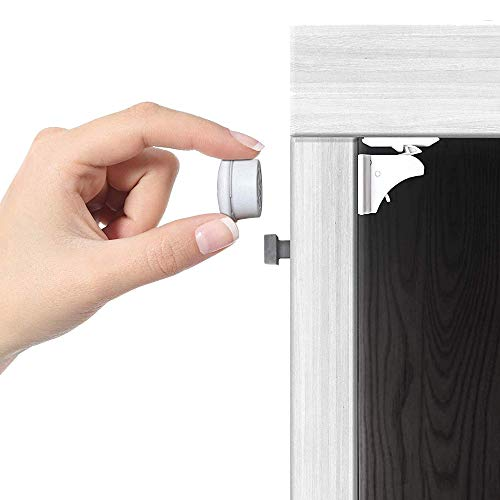 Jambini Magnetic Cabinet Locks - Child Safety Locks for Cabinets and Drawers - Baby Proofing Cabinet Locks (4 Locks + 1 Key)