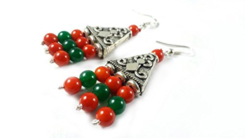 valentine-day-sale-natural-carnelian-and-green-aventurine-earings-natural-gemstone-original-stone-in