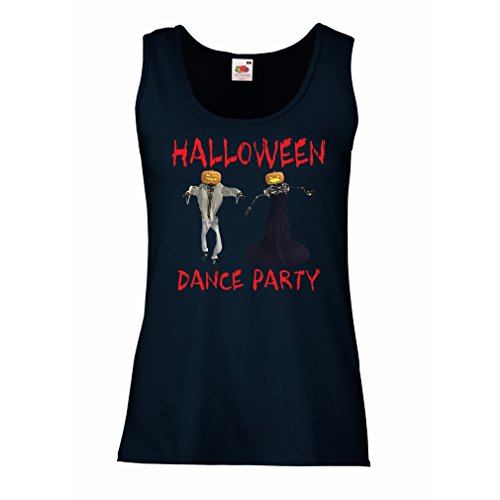 Sleeveless t Shirts for Women Cool Outfits Halloween Dance Party Events Costume Ideas (Small Blue Multi Color)]()