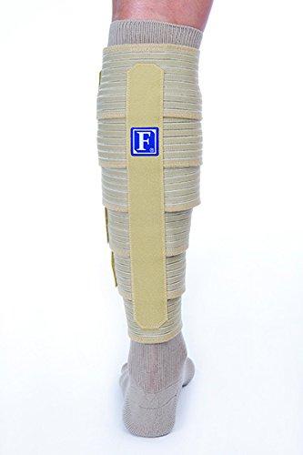 FarrowWrap Classic Legpiece, Tan with compression sock, BSN Jobst FarrowMed (Tall-Small)