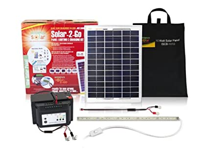 Solar 2 Go ISB-RL01 10 Watt Portable Solar Power Kit