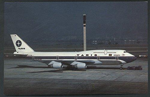 - Varig SA Brasil Boeing 747 Rio De Janeiro Brazil Airplane Jet Postcard