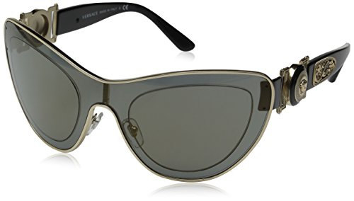 Versace Women's VE2161-10026G-42 Gold Shield Sunglasses