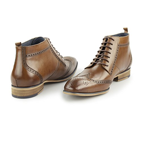 Tan Wingtip Tan Derby PADSTOW Boots Leather Vandini Mens Paolo qwgv8P8