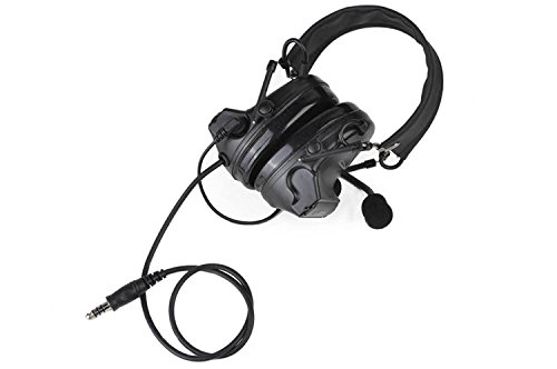 IRON JIA'S Hunting Headset Shooting Tactical Earmuffs Aviation headphone Comtac II Noise Canceling Hearing Protection NATO plug (Full Black)