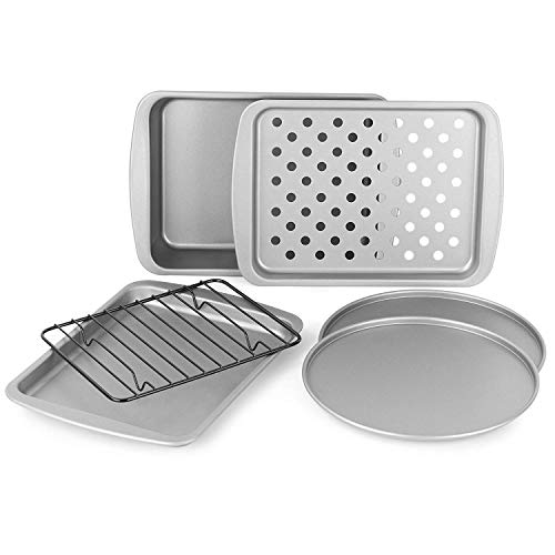 OvenStuff Non-Stick 6-Piece Toaster Oven Baking Pan Set - Non-Stick Baking Pans, Easy to Clean and Perfect for Single Servings by G & S Metal Products Company (Image #7)
