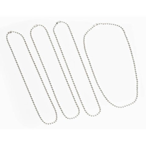 Bulk Buy: Darice DIY Crafts 3mm Ball Chain Necklaces Sterling Silver Plated 18 inches (3-Pack) SSR-117