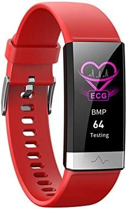 ファッションスポーツスマートブレスレット睡眠監視Bluetoothフィットネストラッカータッチスマート時計3色オプションのトレンド多機能時計CETLFM,赤