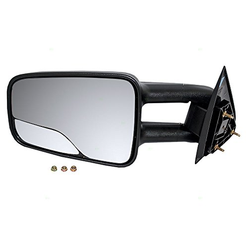 Drivers Manual Telescopic Tow Side Mirror with Spotter Glass Replacement for Chevrolet Cadillac GMC SUV Pickup Truck SUV 15172060