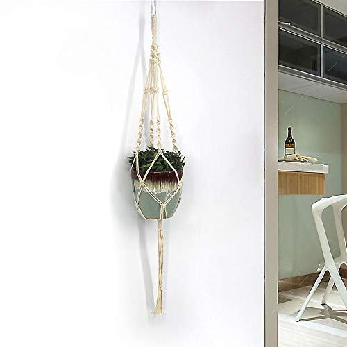 Euone  Christmas Clearance , Macrame Rope Plant Hanger Garden Flower Pot Holder Hanging Basket Decoration ()