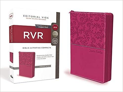 RVR Santa Biblia Ultrafina Compacta, Leathersoft con cierre (Spanish Edition): Reina Valera Revisada: 9781404110526: Amazon.com: Books