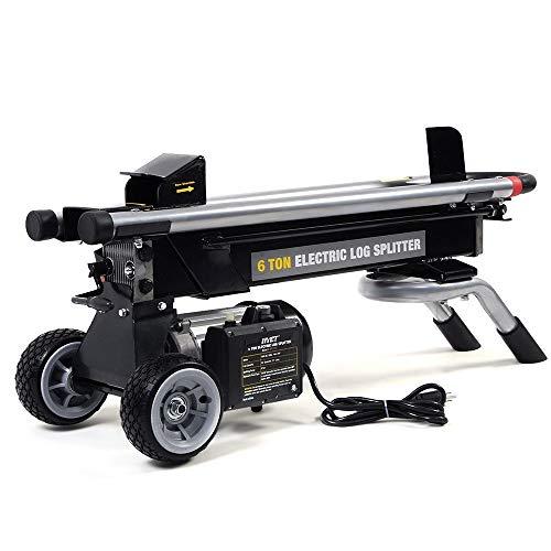 Thaweesuk Shop New 1500W 6 Ton Electric Hydraulic Log Splitter Wood Portable Cutter Powerful ()