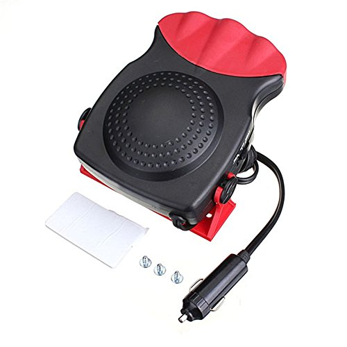 Logicstring 2 In 1 12V 150W Auto Car Heater Portable Heating Fan With Swing-out Handle Windscreen Defroster Dashboard Driving Demister