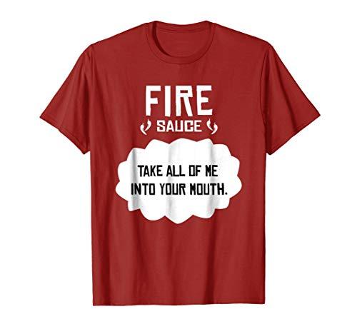 Tacos Fire T-Shirt Sauce, Cinco de Mayo or Halloween -