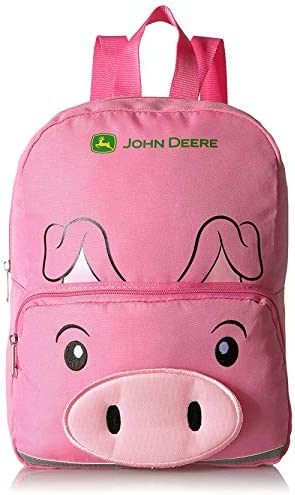 One Size, Yellow Chick John Deere Toddler Girls 13 inch Mini Backpack