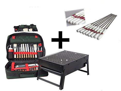 NewYork BBQ Portable Shelf Set-Barbecue Ceramics Skewers (BBQ Shelf Set + Skewers) (Party City Locations Nyc)