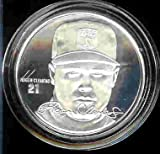 """1994 Highland Mint """"LIMITED EDITION"""" MLB Baseball Collectible Coin Silver: Roger Clemons - Boston Red Sox, New York Yankees, Houston Astros - 300 Game Winner!"""
