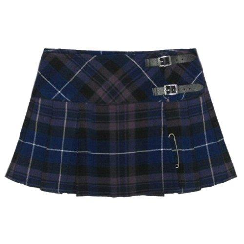 n 13 Inch Pleated Mini Skirt/ Micro Mini Kilt - US 14 (Plaid Micro Mini Skirt)