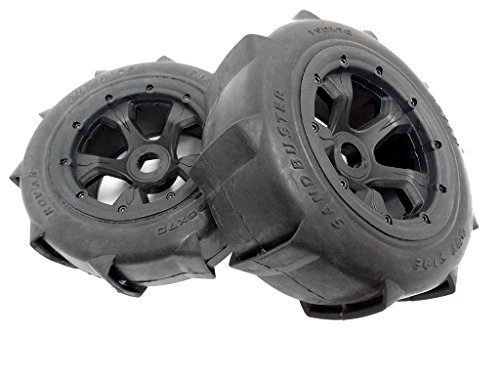 1/5 Rovan Terminator Truck Sand Paddle Wheels Tires (2) HPI Baja 5T 5SC KM ()