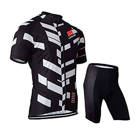 WWL Fashion Mens Cycling Bib Shorts Coolmax Bicycle Pants Short Sleeve Quick Dry Breathable Bicycle Suit