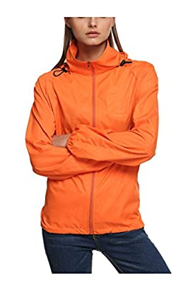 Zeagoo Lightweight Rainwear Active Outdoor Hoodie Cycling Running Windbreaker Jacket