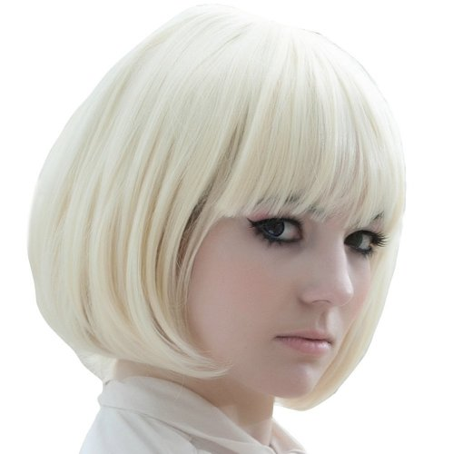 White Wig with Bangs