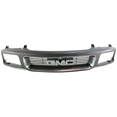 Evan-Fischer EVA17772010933 Grille for GMC Jimmy 95-97/Sonoma 94-97 Black Shell W/Silver Insert W/Composite Headlight Holes - Gmc Sonoma Grille