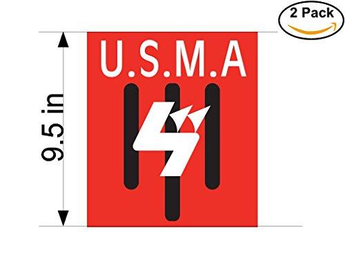 fan products of Union Sportive de la Medina d Alger Algeria Soccer Football Club FC 2 Stickers Car Bumper Window Sticker Decal Huge 9.5 inches