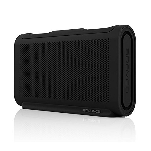 BRAVEN BALANCE Portable Wireless Bluetooth Speaker [18 Hour Playtime][Waterproof] Built-In 4000 mAh Power Bank Charger – Retail Packaging -Black