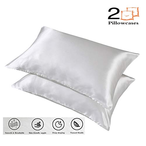 Amazon Com Couturebridal Silky Satin Pillowcases Set Of 2