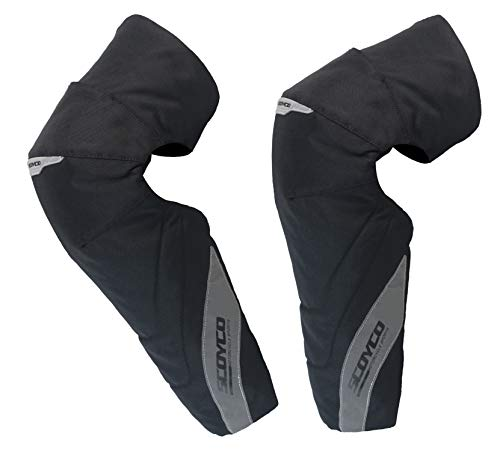 SCOYCO Windproof Kneepads,Portable Cotton Padded,Reflective Oxford Cloth,with Replaceable CE Certificated PP Shell,for Touring Motorcycle,ATV,ADV (Black)
