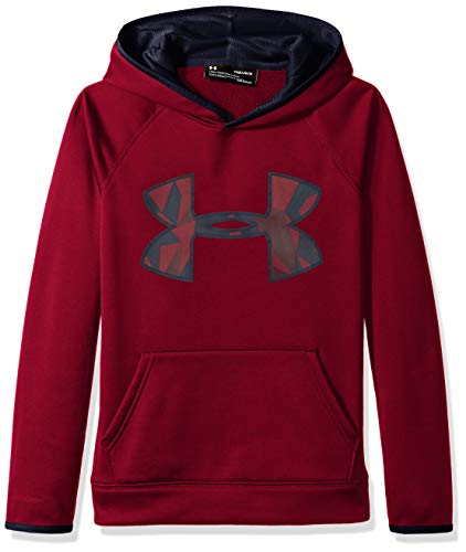Logo Hoody Jacket - Under Armour Boys' Armour Fleece Big Logo Hoodie,Black Currant (923)/Black Currant, Youth X-Small