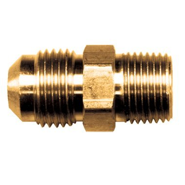 FASPARTS Male NPT to Male SAE 45 Adapter Connector3/8 Tube OD SAE 45 x 3/8 Male NPT MIP ()