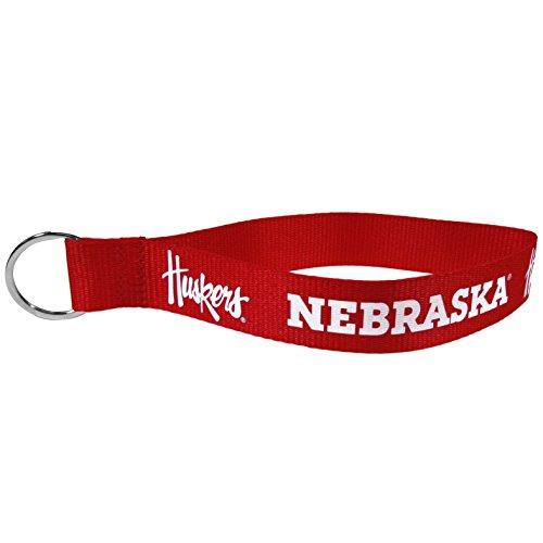 (NCAA Nebraska Cornhuskers Lanyard Key Chain, Wristlet)
