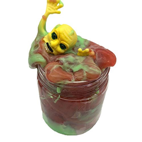 Pausseo Halloween Ghost Head Slime Fluffy Mixing Floam Slimy Clear Crystal Supplies Mud Putty Scented Stress Relief Sludge Toy for Kids and Adults,Super Soft and Non-Sticky Putty Making (100ML)]()