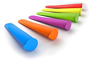 FoodWorks Silicone Ice Pop Maker Molds/Popsicle Molds, Set of 6