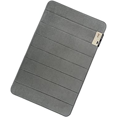 Magnificent 20 X 32 inch Memory Foam Bath Mat, Large, Soft, Non-slip, High Absorbency (Grey)