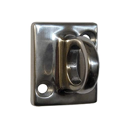 Rope Stanchion Decorative Stainless Steel Wall Plate Holder, CROWD CONTROL CENTER (Mirror) ()