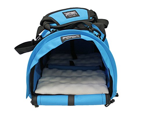 Sturdi Products Bag Double Sided Divided Pet Carrier, Large, Blue Jay