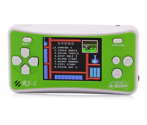 (E-MODS GAMING Handheld Console Built-in 162 Games, Retro Old School Games Player for Kids - Green)