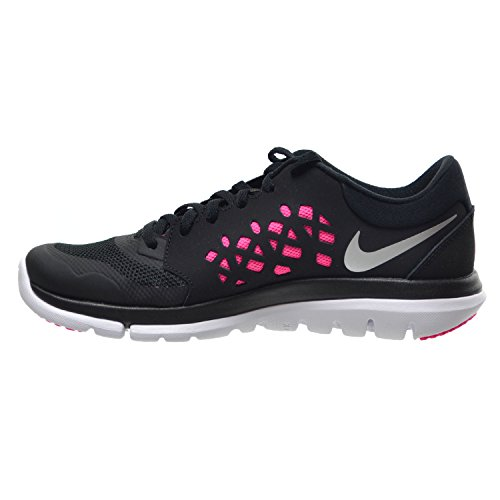 new style f696b 31317 Amazon.com   Nike Flex 2015 RN Women s Shoes Black Metallic Silver Hyper  Pink Digital Pink 709021-014   Running