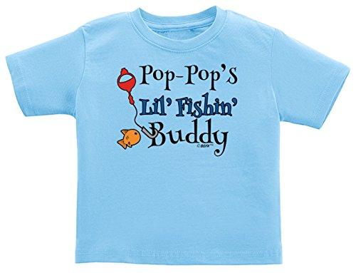 Pop-Pop's Lil Fishing Buddy Infant T-Shirt 18 Months Light Blue