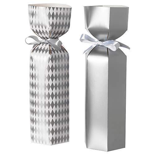 IKEA.. 304.074.37 Vinter 2018 Bottle Gift Bag, Silver-Color/White