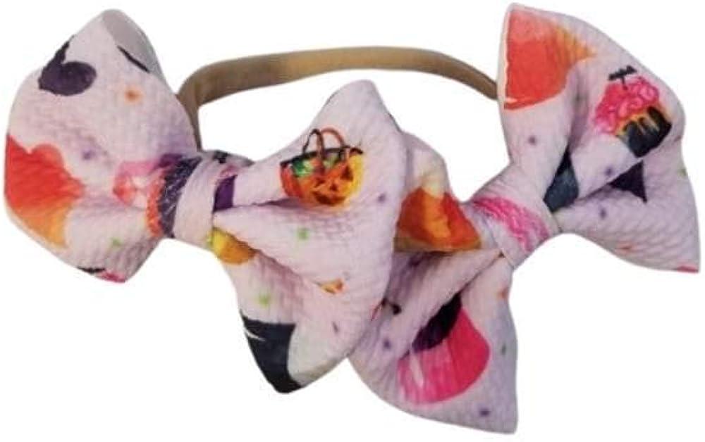 "Piggies candy hair bow on nylon 2"""