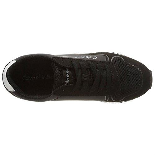 Nylon Basses Sneakers Klein Reflex Femme Jeans Noir black microfiber Calvin black Tori qSwI0Z