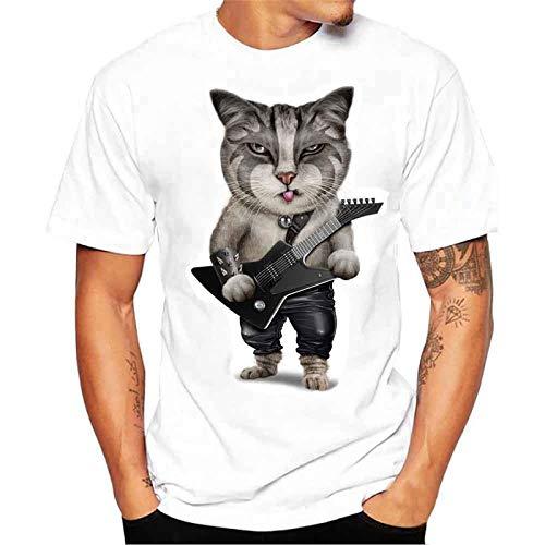 Camiseta Hombre Subfamily/® Camisetas Hombre Manga Corta Calaveras Camisetas Originales Animal Carta T-Shirt Hombre Camiseta B/ásica Deportiva De Manga Corta Fitness Gimnasio S-4XL