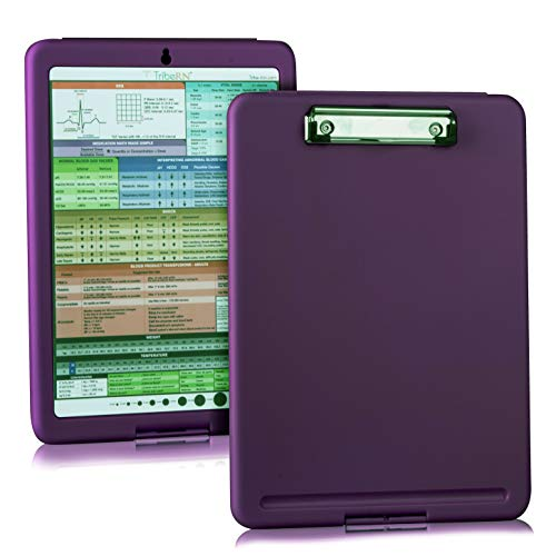 2019 Nursing Clipboard with Storage and Quick Access Medical References by Tribe RN - Nurse/Student
