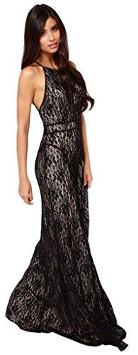 Schwarz Linie Damen Schwarz Drasawee A Kleid nwW84XqxYE